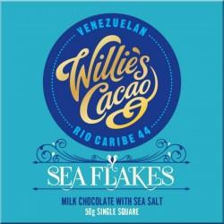 Willie's Cacao Seaflakes - mleczna czekolada z solą