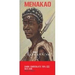 Menakao czekolada ciemna 70% z papryczką piri-piri